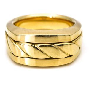 David Yurman Men's Cable Cigar Band Ring